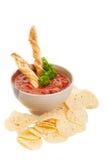 Nacho e salsa Immagini Stock Libere da Diritti