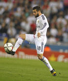 Nacho Fernández Iglesias of Real Madrid. Nacho Fernández Iglesias of Real Madrid during the Spanish League match between Espanyol and Real Madrid at the Royalty Free Stock Photo