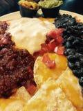 Nacho & formaggio del fagiolo Fotografia Stock Libera da Diritti