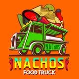 Nacho messicani Chili Pepper Fast Delivery Service Vec del camion dell'alimento Fotografia Stock
