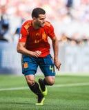 Nacho national de défenseur d'équipe de football de l'Espagne photos stock