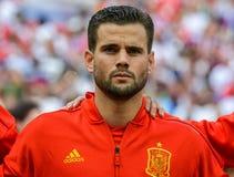 Nacho national de défenseur d'équipe de football de Real Madrid et de l'Espagne images libres de droits