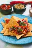 Nacho, pasto messicano con i chip di tortiglia Fotografia Stock