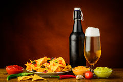 Nacho tortilla chips still life Stock Photos
