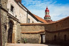 Nachod Castle, which lies above the town of the same name in the Czech Republic royalty free stock photos