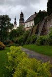 NACHOD, republika czech - MAJ 29, 2009: Ogródy przy Nachod Roszują w północno-wschodni republika czech fotografia stock