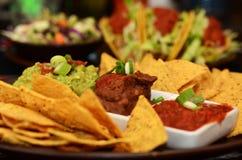 Μεξικάνικα τρόφιμα - Nachos Στοκ Εικόνες