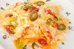 Nachos avec du fromage Photographie stock libre de droits
