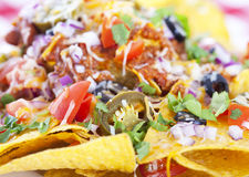 Nachos background Royalty Free Stock Photos