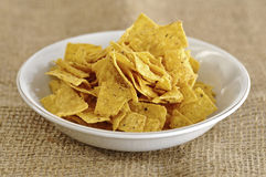 Nachos In The Bowl Stock Images