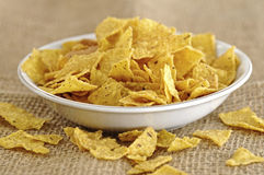 Nachos In The Bowl Royalty Free Stock Image