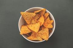 Nachos bowl Stock Image