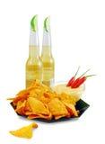 Nachos-cerveza Imagen de archivo libre de regalías