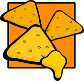 Nachos with cheese. Illustration of some nachos with cheese Stock Photo