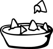 Nachos with cheese dish vector illustration Stock Photography