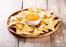 Nachos with cheese Stock Photography