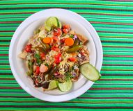 Nachos with cheese vegetables chili Mexico Royalty Free Stock Photos