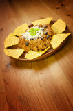 Nachos and chili con carne Royalty Free Stock Photo