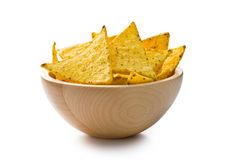 The nachos chips in bowl Stock Image