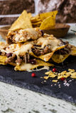 Nachos com carne Fotos de Stock Royalty Free