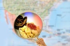 Nachos com salsa e sombreiro Imagens de Stock Royalty Free