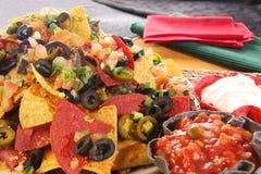 Nachos con queso Fotografía de archivo libre de regalías
