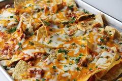 Nachos da pizza Fotografia de Stock