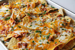 Nachos de pizza Photographie stock