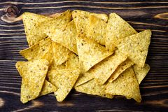 Nachos de puces de maïs photos libres de droits