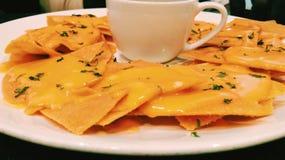 Nachos de queijo Imagem de Stock
