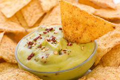 Nachos with Dip Stock Images