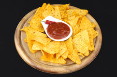 Nachos and dip Royalty Free Stock Photo