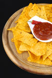 Nachos and dip Royalty Free Stock Photos