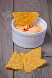Nachos with dip Stock Photography