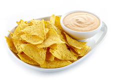Nachos and dip Royalty Free Stock Images