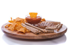 Nachos and dip Royalty Free Stock Image
