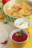 Nachos and dips Stock Image