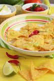 Nachos with dips Stock Images