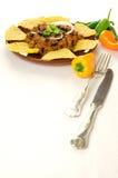 Nachos e chili con carne Imagens de Stock