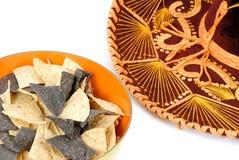 Nachos en Sombrero Stock Foto's