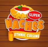 Nachos ethnic cuisine logo. vector illustration