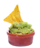 Nachos and guacamole Stock Image