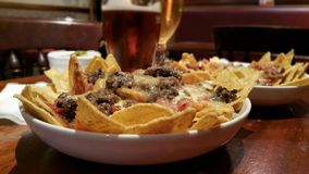 Nachos With Haggis and Beers Royalty Free Stock Photography
