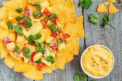 Nachos jaunes de puces de maïs photo libre de droits