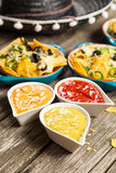 Nachos with melted cheese Stock Images