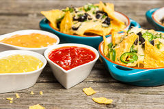 Nachos with melted cheese Royalty Free Stock Photo