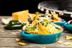 Nachos with melted cheese Stock Photography