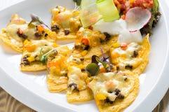 Nachos mexicains avec du fromage Image libre de droits
