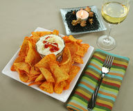 Nachos And Mexican Dip Royalty Free Stock Photo