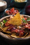 Nachos, mexican meal with tortilla chips Royalty Free Stock Photography